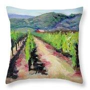 Solano Vineyards Throw Pillow