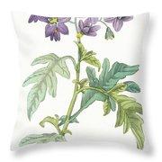 Solanum Quercifolium Throw Pillow