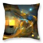 Solar Blue Stars Throw Pillow