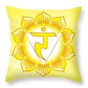 Solar Plexus Chakra Throw Pillow by David Weingaertner