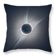 Solar Corona During The Eclipse Of August 21 2017 Throw Pillow