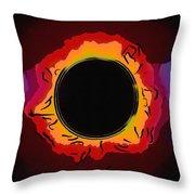 Solar Eclipse 3 Throw Pillow