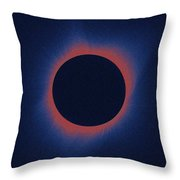 Solar Eclipse, As Seen Above Madras, Oregon, U.s. By Nasa 6 Throw Pillow