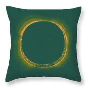 Solar Eclipse By Hinode Observes, Nasa 4 Throw Pillow