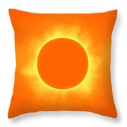 Solar Eclipse In Daffodil Color Throw Pillow