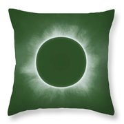 Solar Eclipse In Forest Color Throw Pillow