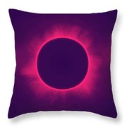 Solar Eclipse In Hipster Colors Throw Pillow