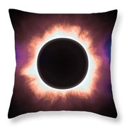 Solar Eclipse In Infrared 2 Throw Pillow