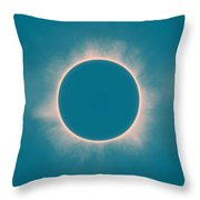 Solar Eclipse In Morning  Color Throw Pillow