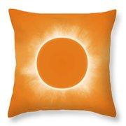 Solar Eclipse In Orange Colors Throw Pillow