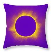 Solar Eclipse In Purple Throw Pillow