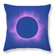 Solar Eclipse In Purple Color Throw Pillow