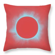 Solar Eclipse In Reddish Pink Throw Pillow