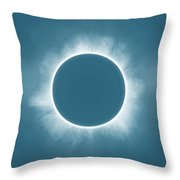 Solar Eclipse In Stormy Sky Color Throw Pillow