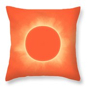 Solar Eclipse In Sunset Color Throw Pillow
