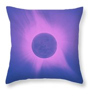 Solar Eclipse In Totality 10 Throw Pillow