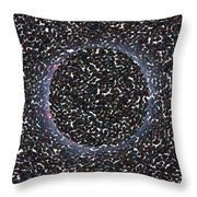Solar Eclipse In Totality 5 Aboriginal Dotted Art Style Throw Pillow