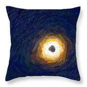 Solar Eclipse In Totality Painting Throw Pillow