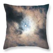 Solar Eclipse No Filter Throw Pillow