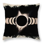 Solar Eclipse Phases 2 Throw Pillow