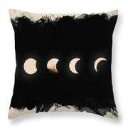 Solar Eclipse Phases Throw Pillow