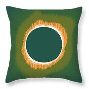 Solar Eclipse Poster 2 Throw Pillow
