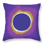 Solar Eclipse Poster 3 Throw Pillow