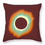 Solar Eclipse Poster 4 A Throw Pillow