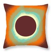 Solar Eclipse Poster 4 Throw Pillow
