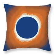 Solar Eclipse Poster 6 Throw Pillow