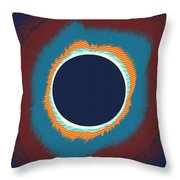 Solar Eclipse Poster Throw Pillow