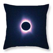 Solar Eclipse, Saros Cycle Painting Throw Pillow