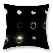Solar Eclipse Sequence 2017 Throw Pillow