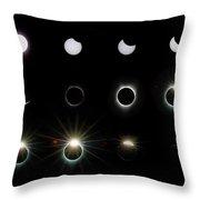 Solar Eclipse Sequence 2017 Throw Pillow