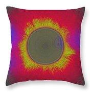 Solar Eclipse Spectrum 3 Throw Pillow