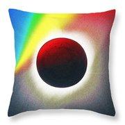 Solar Eclipse Spectrum  Of 2017 2 Throw Pillow