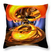 Solar Flare Abstract Throw Pillow