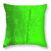 Solar Green Throw Pillow