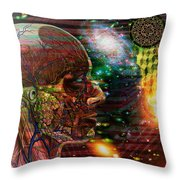 Solar Insight Of Throw Pillow by Joseph Mosley