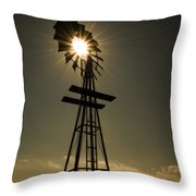 Solar Meets Wind Throw Pillow by Barry C Donovan