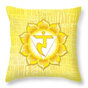 Solar Plexus Chakra - Awareness Throw Pillow
