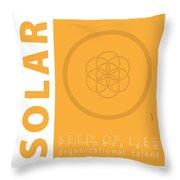 Solar Plexus Chakra Series Three Throw Pillow