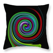 Solar Scroll Throw Pillow