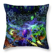 Solar Soul Awaken Throw Pillow