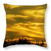 Solar Storm Sunset Throw Pillow