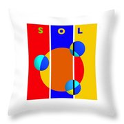 Solar Style Throw Pillow