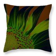 Solar Sunflower Throw Pillow