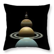 Solar System Planets In Alignment Around Sun Throw Pillow