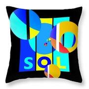 Solar Winter Throw Pillow