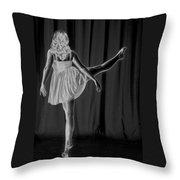 Solarized Dancer Throw Pillow
